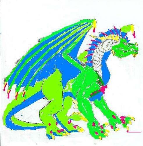 Colored Winged Dragon