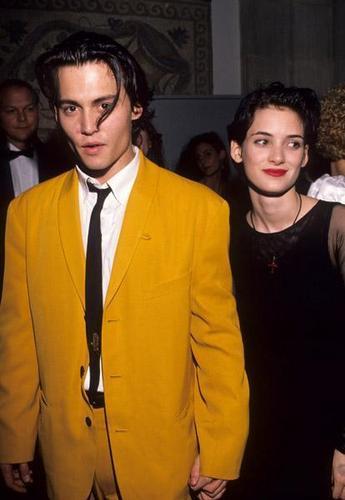 Johnny Depp And Winona Ryder At Showest 1990 Johnny Depp