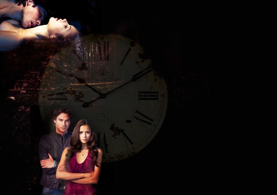 vampire diaries damon and elena. Damon and Elena Wallpaper