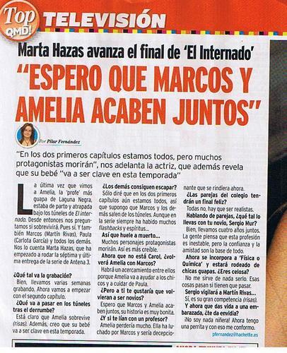Entrevista a Marta Hazas (Amelia)