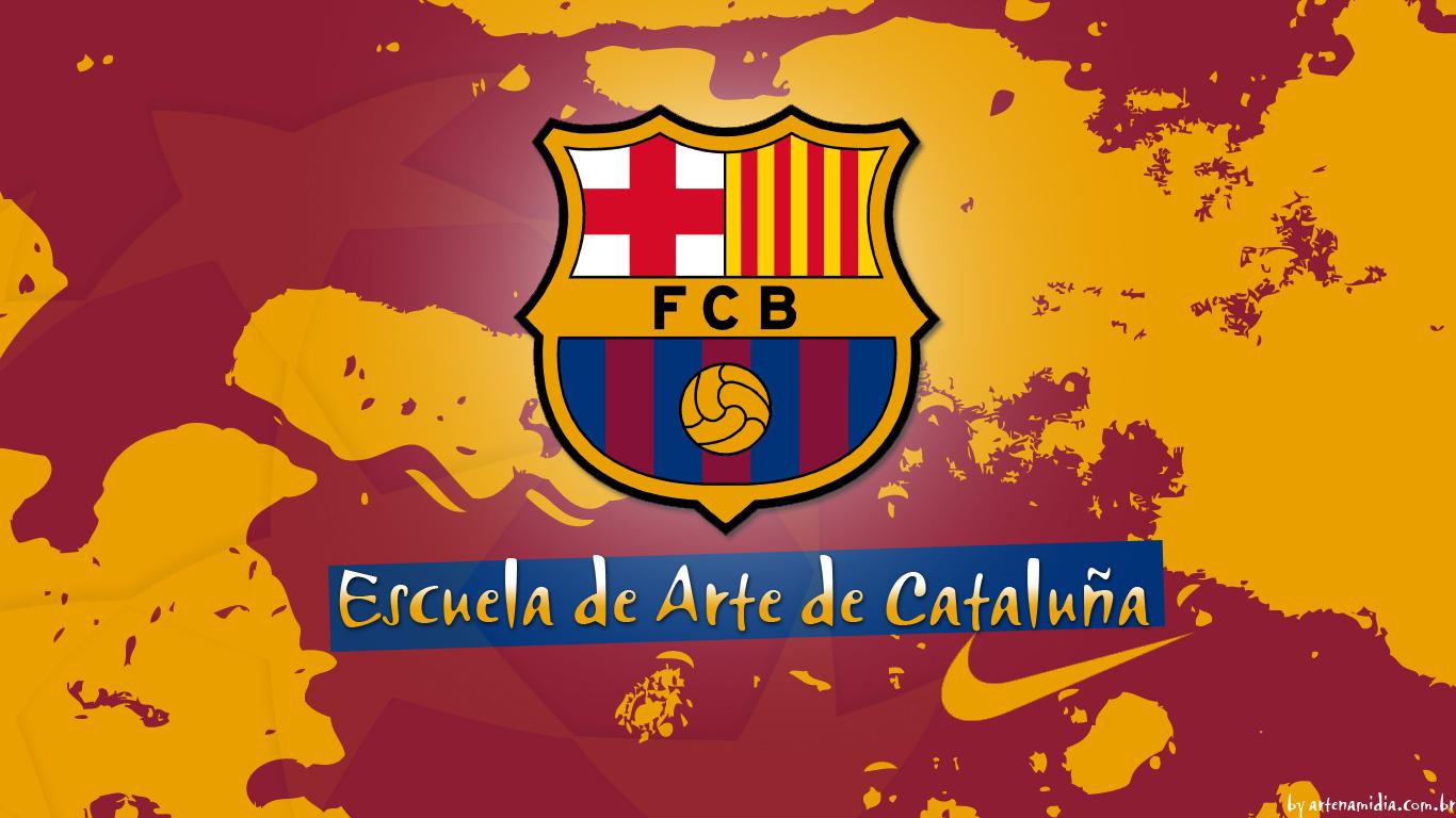 FC Barcelona Escuela de Arte Wallpaper fc barcelona 11305335 1366 768 Barcelona Takımının Güzel HD Masaüstü Resimleri