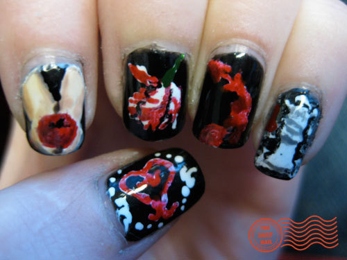 Fanmade twilight saga inspired nails
