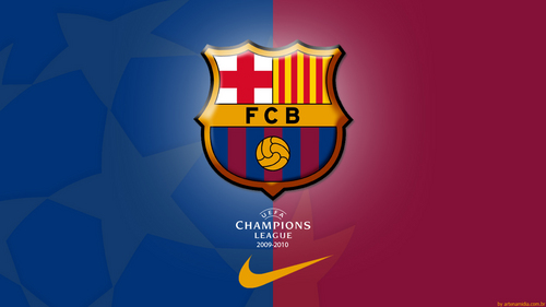Fc Barcelona - Champions League 壁纸