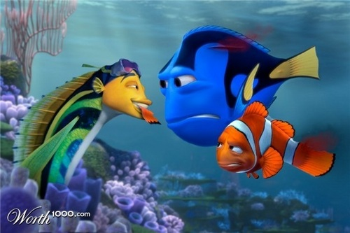 Finding Nemo vs акула Tale