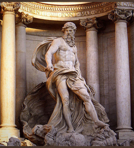 Fontana di Trevi's Neptune, Rome. - greek-mythology Photo