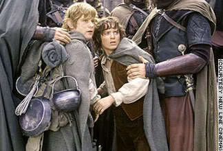 द लॉर्ड ऑफ द रिंग्स वॉलपेपर titled Frodo & Sam
