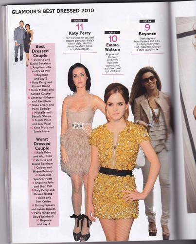 Glamour magazine 2010