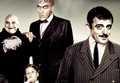 Gomez, Lurch, Uncle Fester, and Wednesday