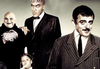 The Addams Family 1964 wallpaper called Gomez, Lurch, Uncle Fester, and Wednesday