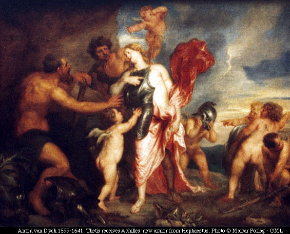 Greek gods and demigods images Hephaestus gives Thetis the ...