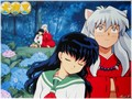 InuYasha and Kagome - inuyasha-and-kagome wallpaper