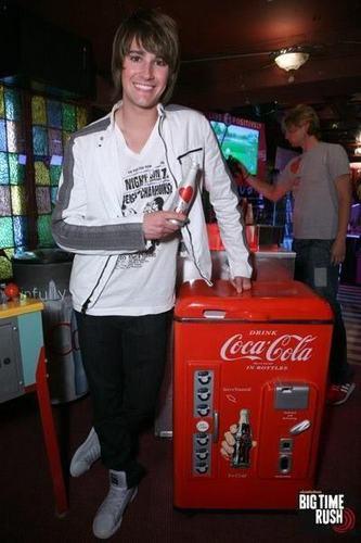 James and a Coca Cola