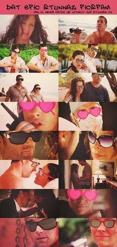 Jate rocking the sunglasses, LOL!
