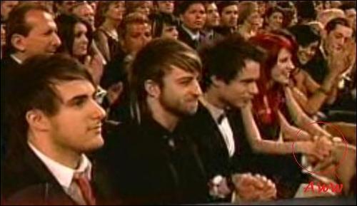 Josh & Hayley holding hands