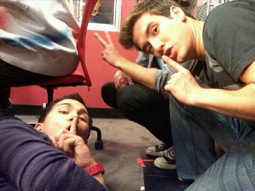 Logan and Carlos SHHHHHHHH