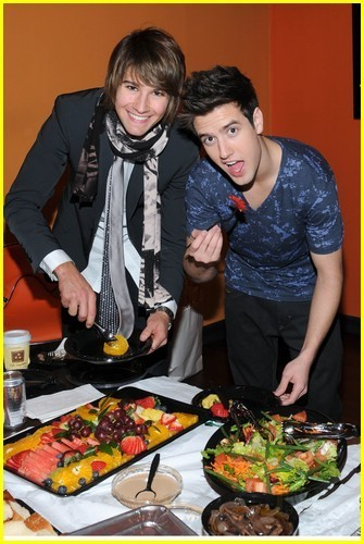 Logan and James eating