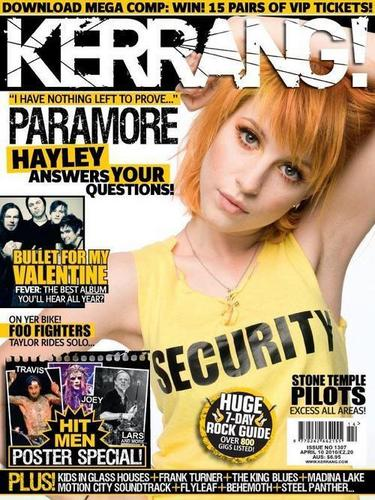 Paramore wallpaper entitled Magazine Kerrang! HD