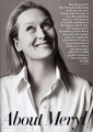 Meryl Streep in Vanity Fair Magazine January 2010