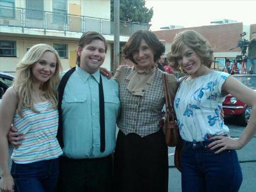 Milla on the set of Dirty Girl
