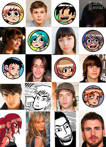 Scott Pilgrim wallpaper called Movie Cast Comparison