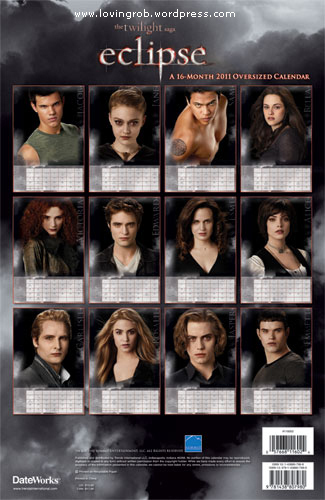 NEW: 'Eclipse' Calendar Pictures!