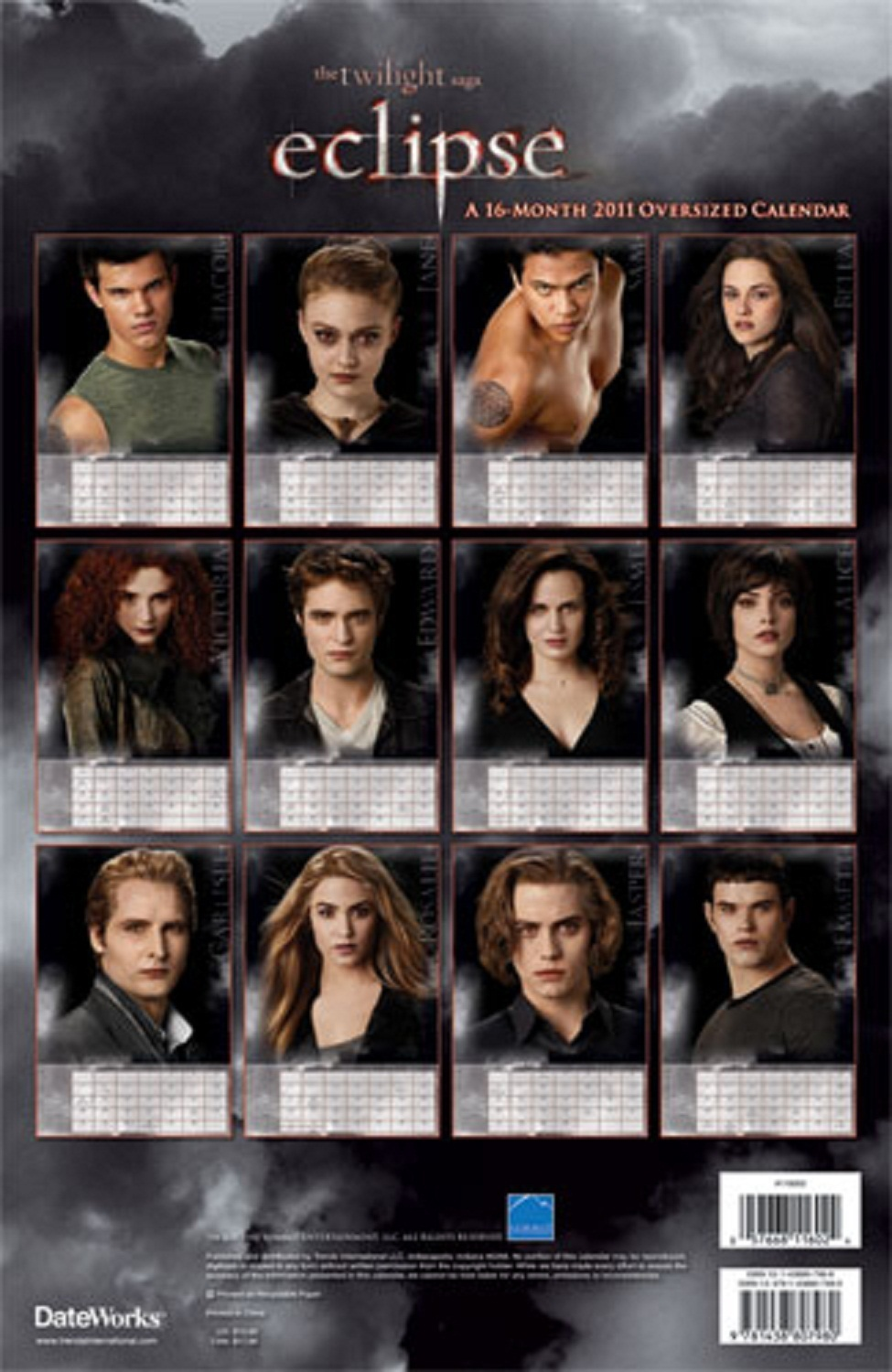 NEW Eclipse Calendar With Eclipse Promo Pictures