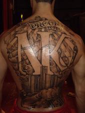 Nate's tat on back