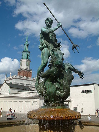 Neptune in Poznań, Poland.
