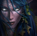 Night Elf girl - world-of-warcraft fan art