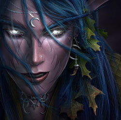 Night elf girl world of warcraft fan art