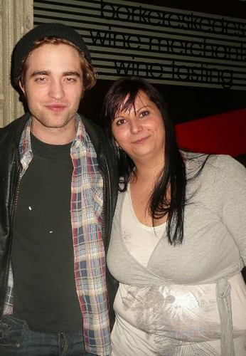 Rob with a fan in Budapest
