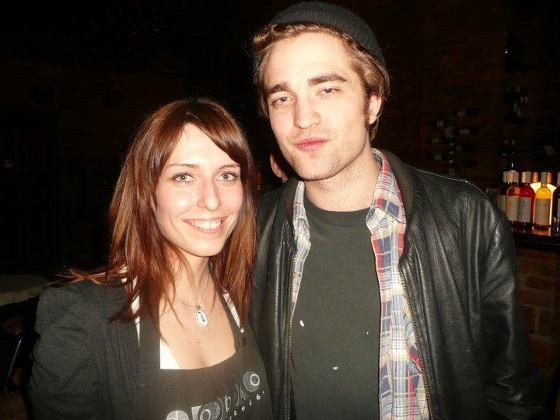 Rob with a অনুরাগী in Budapest