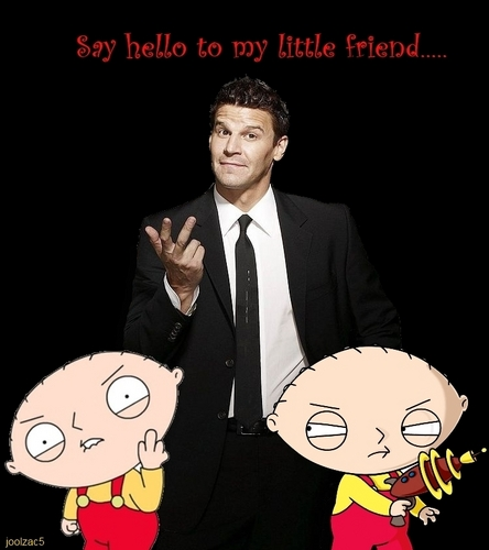 Seeley Booth karatasi la kupamba ukuta entitled Say Hello To My Little Friend...