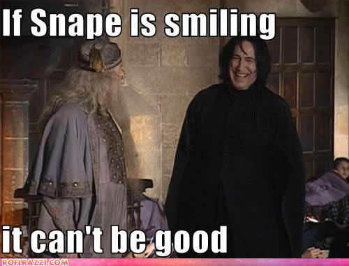 Snape is Smiling