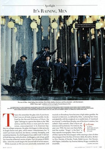 ग्ली वॉलपेपर entitled The Guys Vanity Fair Spread Scan