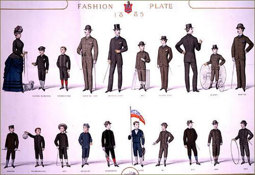 Victorian Fashion Plate (1885)