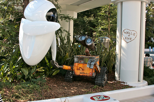 WALL-E and EVE in Disneyland