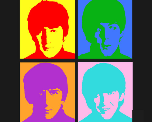 the beatles wallpaper titled Warhol Inspired
