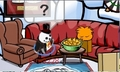 Why is my puffle kissing the nacho bowl?