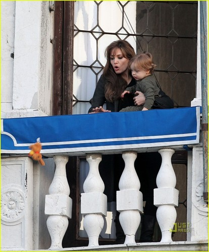 angelina in the balcony with knox