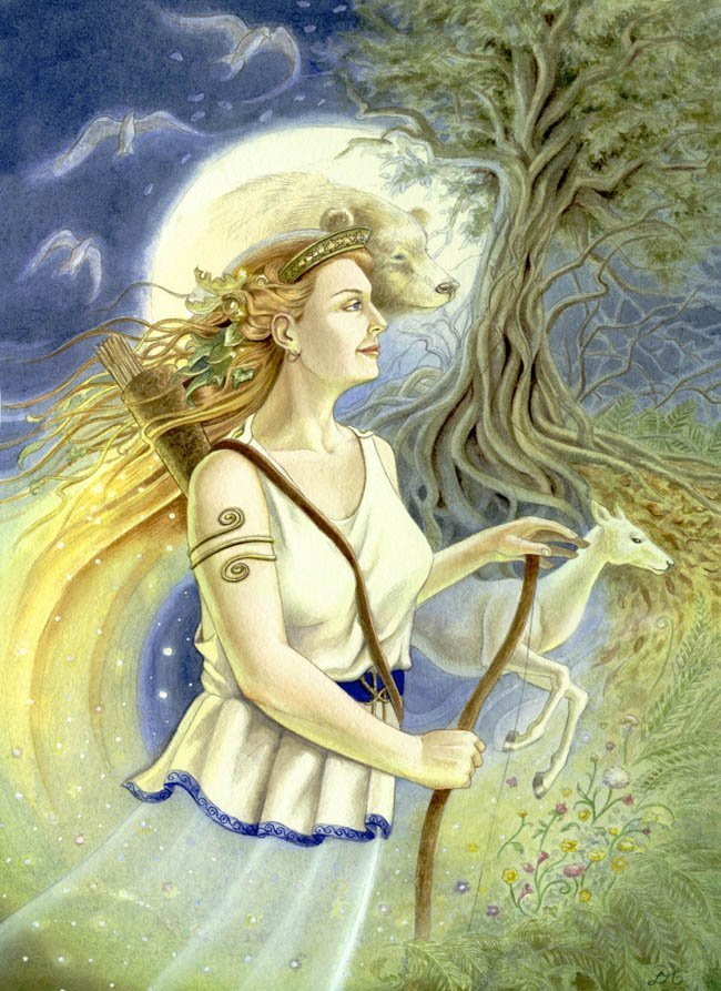 artemis greek goddess symbols. artemis greek goddess cartoon.