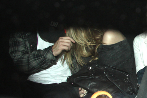avril lavigne With Brody Jenner at Red Rock Bar in Hollywood, CA (April 4, 2010)