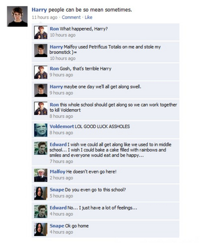 Harry Potter Vs. Twilight wallpaper called convo