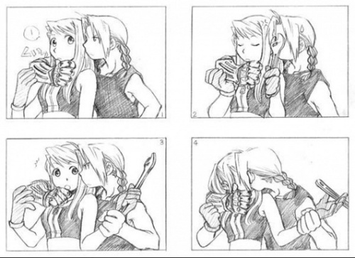 Edward Elric and Winry Rockbell wallpaper entitled ed kiss winry