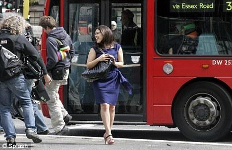 filming in Londres