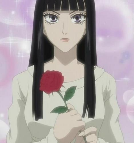 holding a rose