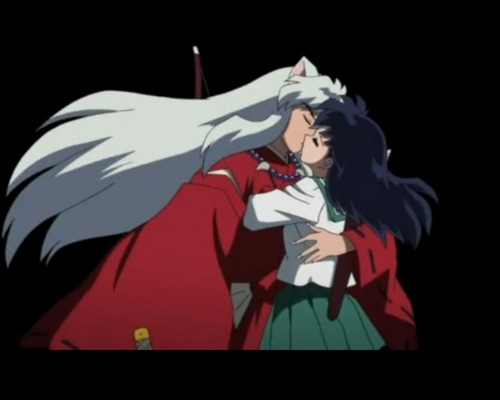 Inuyasha and kagome baciare