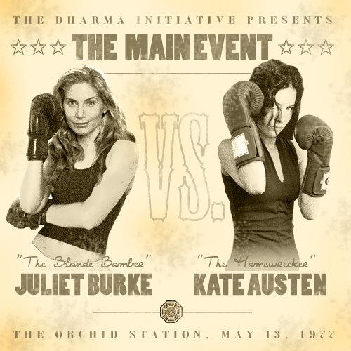 Dr. Juliet Burke Hintergrund titled juliet vs kate
