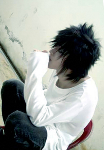 Death Note achtergrond called l- cosplay