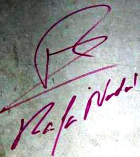 rafa nadal autograph